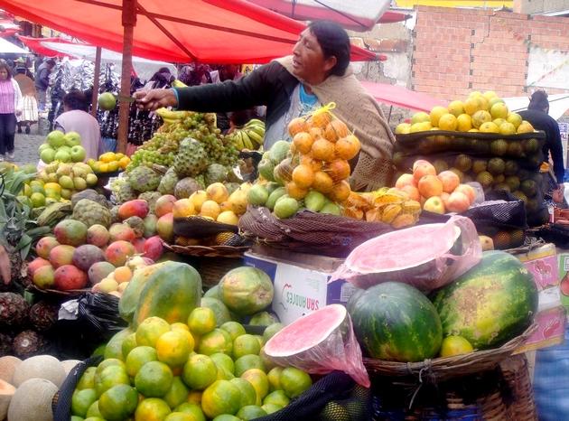marché la paz bolivie