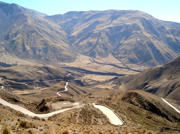 voyage argentine, cuesta del obispo