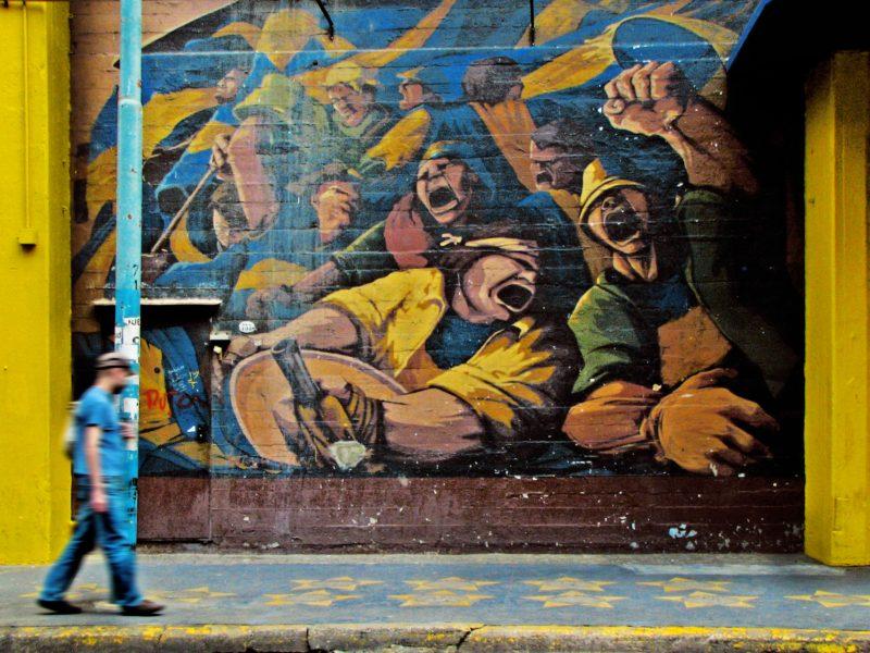 graffiti à la boca Buenos Aires, Argentine