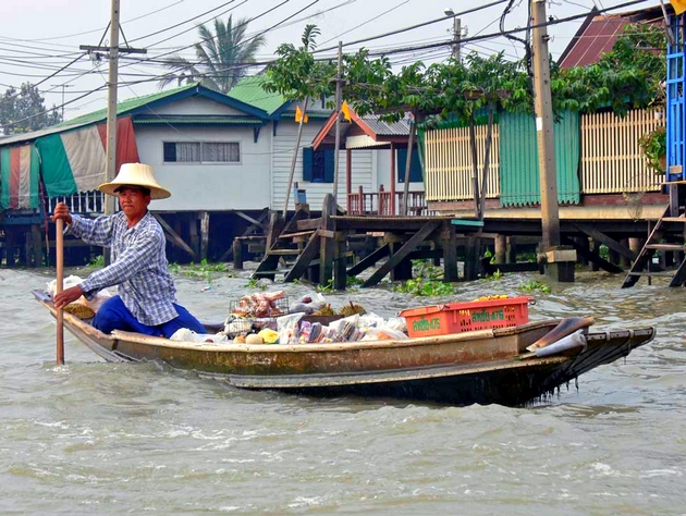 voyage thailande, bangkok, sur les klongs