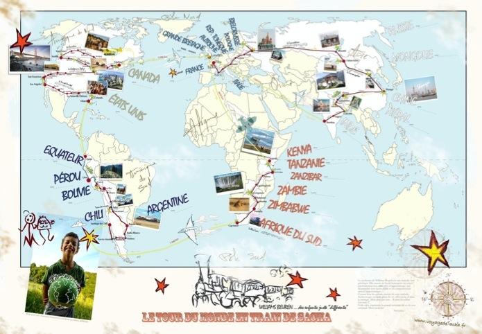 Sacha fait le tour du monde en train