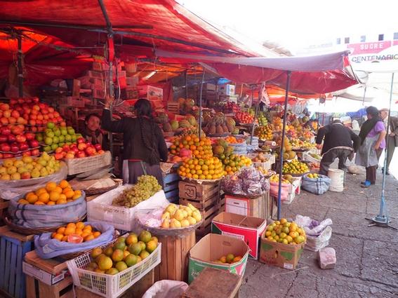 marché des fruits Bolivie