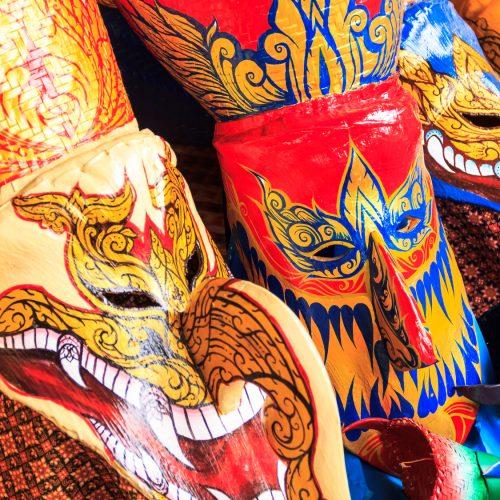Thai masked festival