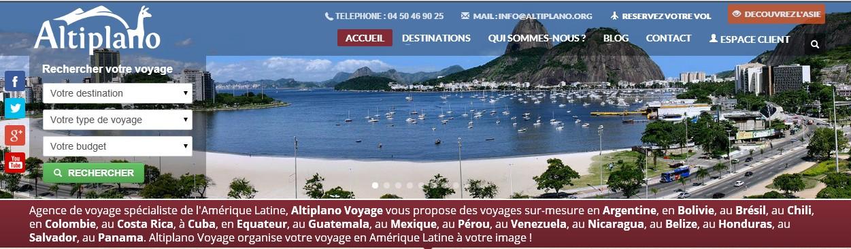Nouveau site web Altiplano