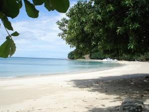 """Une des magnifiques plages de l'archipel de """"Las Perlas""""."""