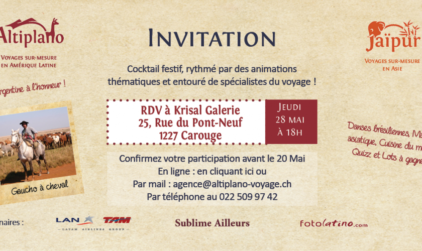 Invitation cocktail mai 2015