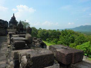 Paysage temple de Borobudur