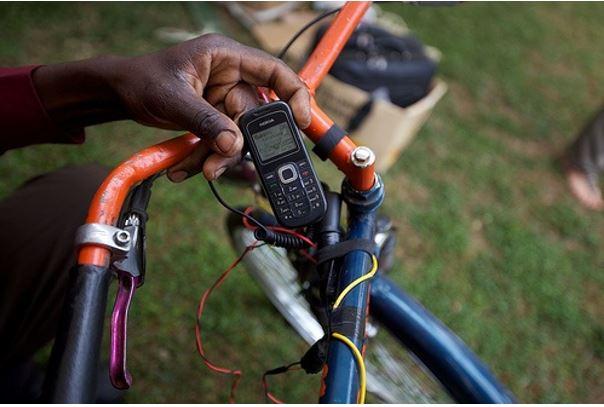 Pouvoir recharger son mobile tout en pédalant