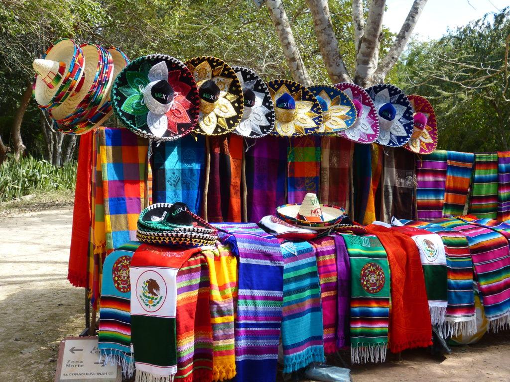 Marché coloré mexicain mexique