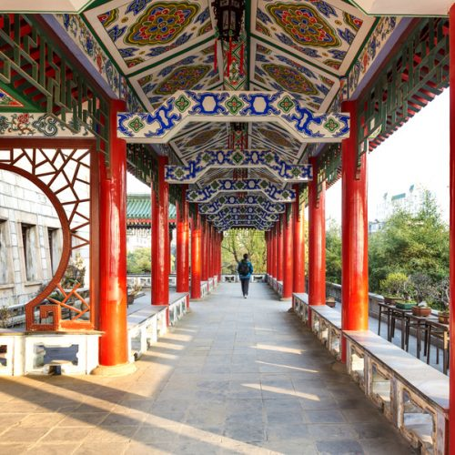 Historic Architecture of China,red corridor