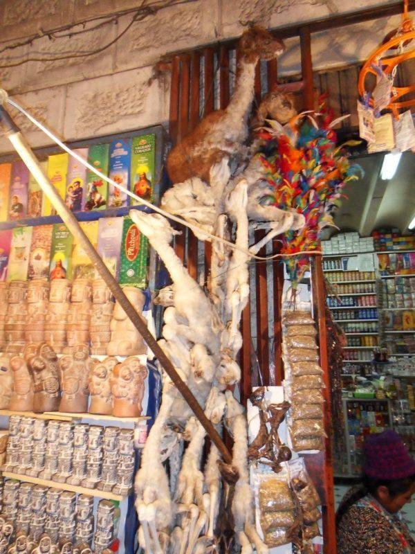 Marché sorcières La Paz - copyright Voilier