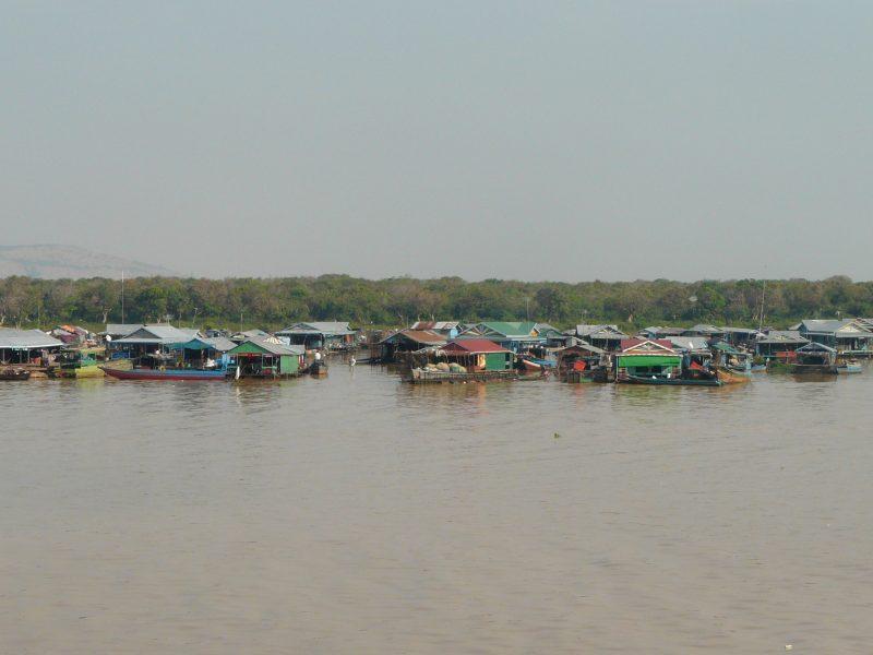 Le lac de Tonle Sap au Cambodge