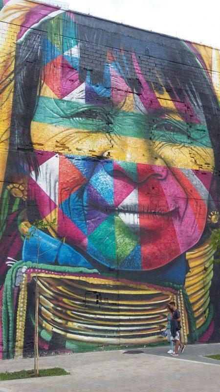 Fresque géante, port de Rio