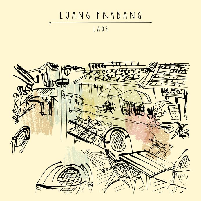 Luang Prabang, café