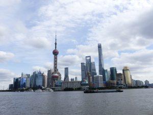 Vue de la baie de Shanghai