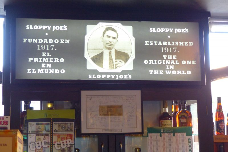 Bar Sloppy Joe's - La Havane - Cuba