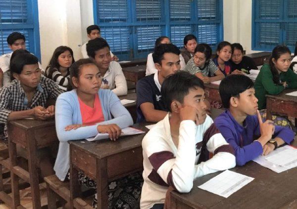 école au Cambodge