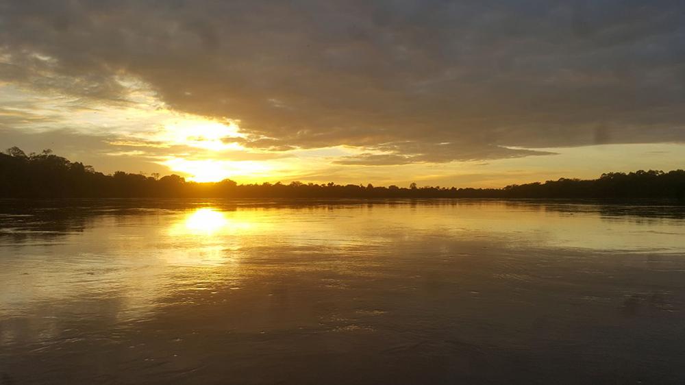 lever soleil amazone voyage sur-mesure Colombie
