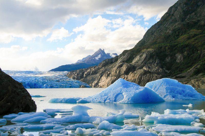 Glacier Torres del Paine, Patagonie