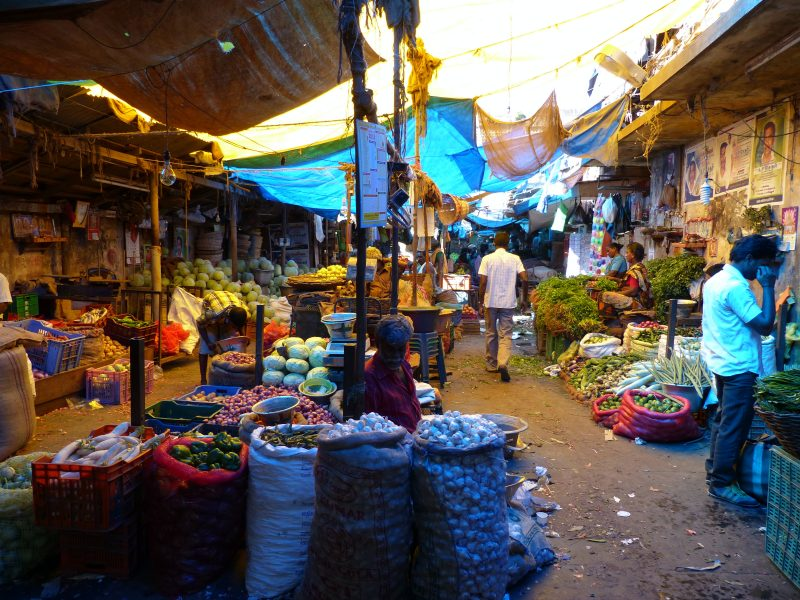 marché colorés inde