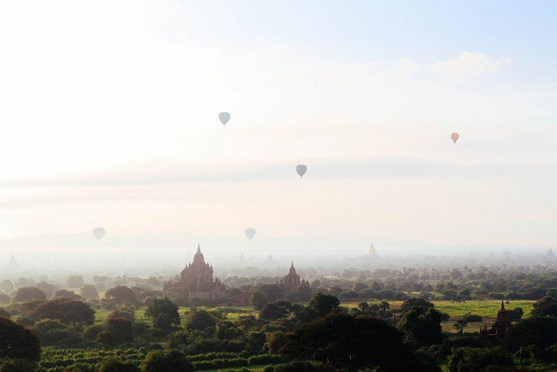 bagan montgolfière voyage sur mesure Birmanie