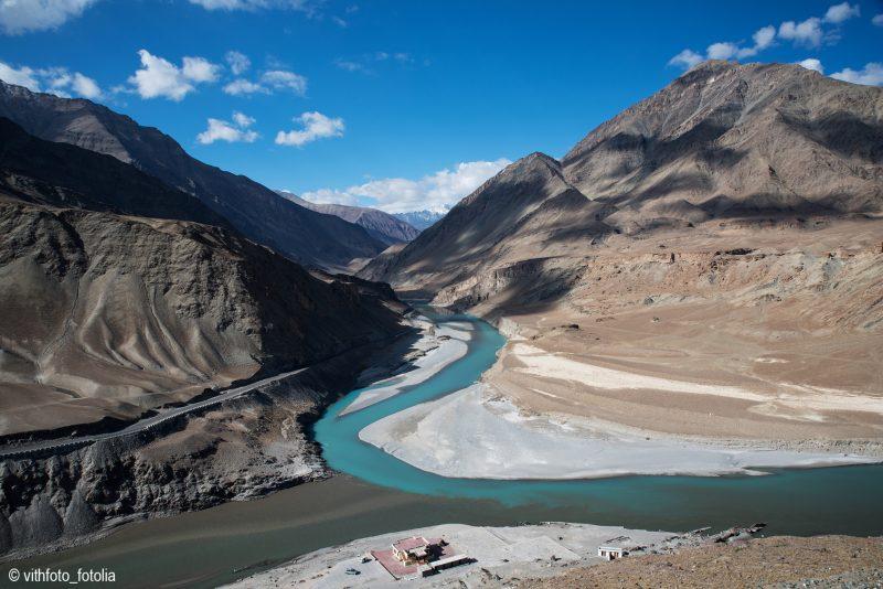 La rivière de Zanskar au Ladakh