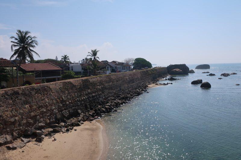 Petite ville balnéaire de Galle, Sri Lanka