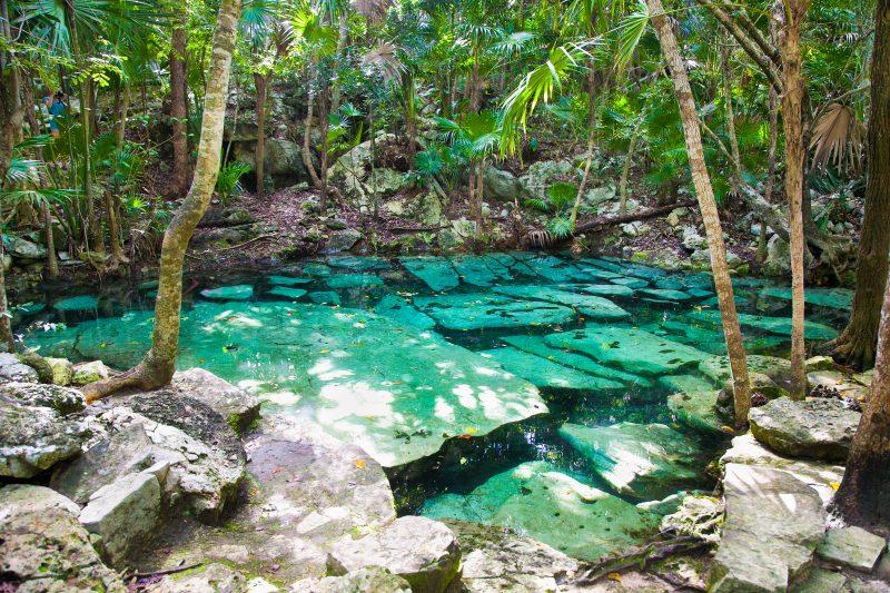 cenote azul mexique
