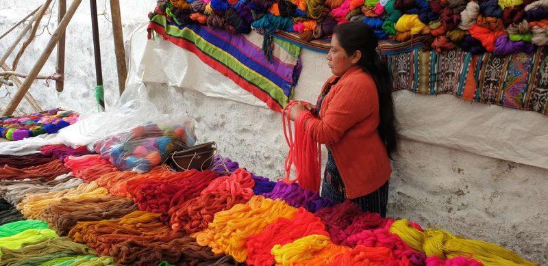 Marché Chichicastenango au Guatemala