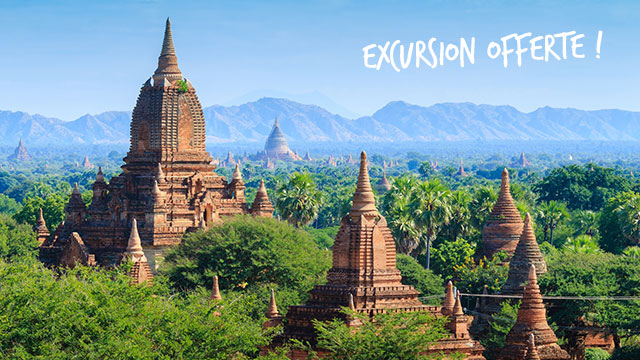 Excursion offerte à Bagan, Myanmar