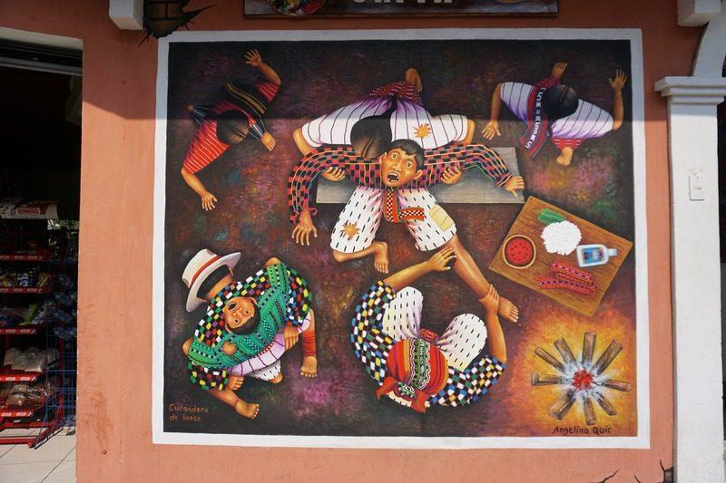 oeuvres artistes locaux San Juan La Laguna - Guatemala