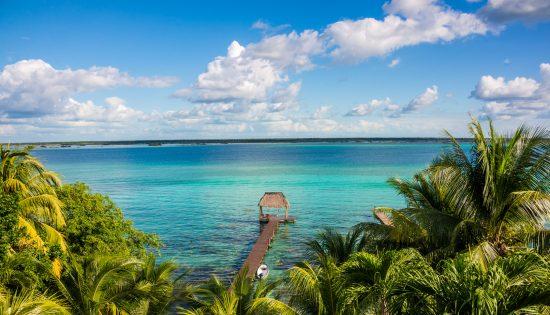 Bacalar Lake at caribbean. Quintana Roo Mexico, Riviera Maya