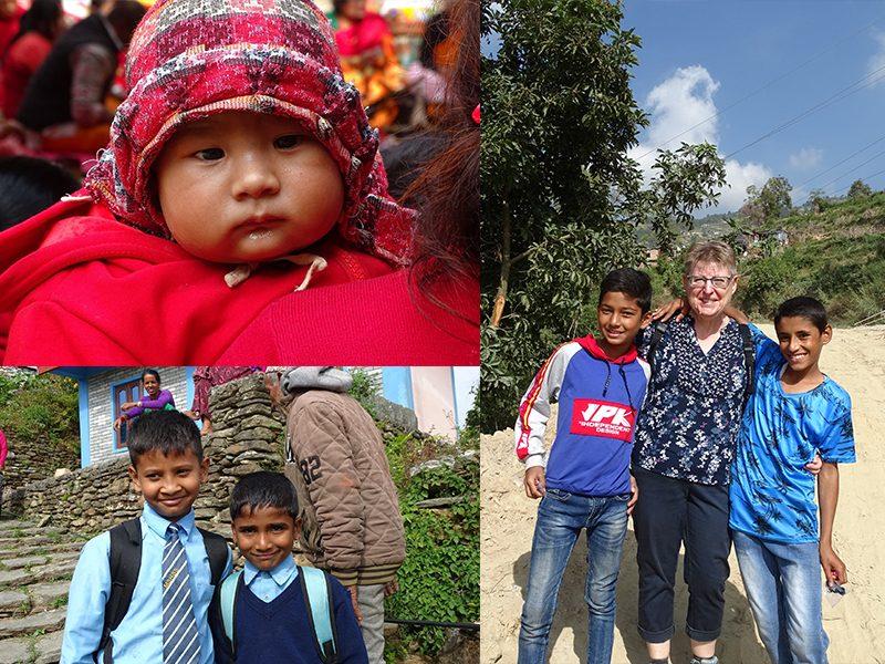 De touchantes rencontres avec les enfants népalais
