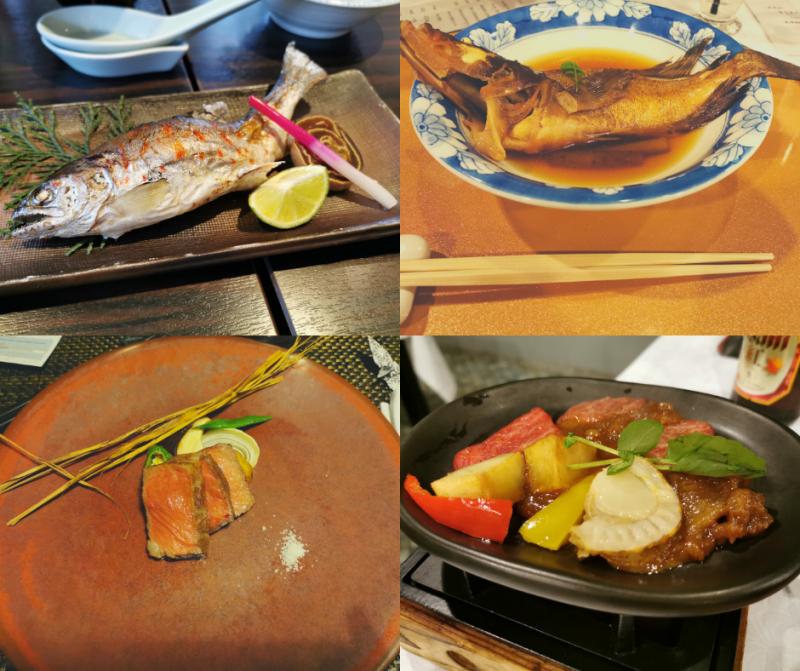 gastronomie japon poisson viande