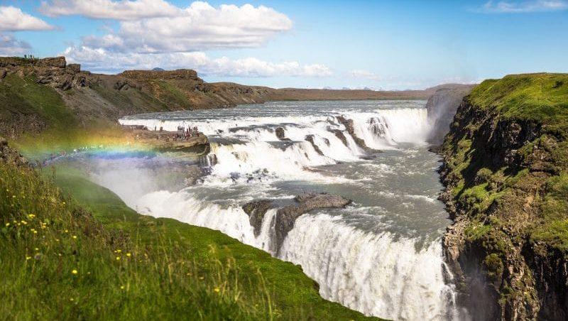 La chute d'eau de Gullfoss en Islande