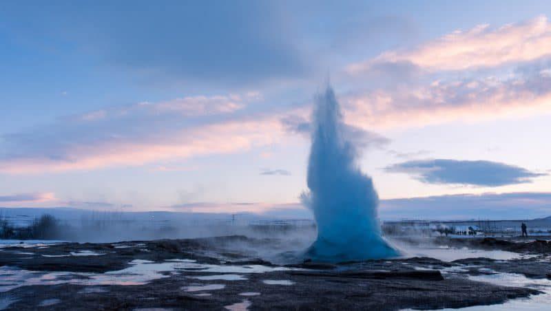 Geysir, geyser en Islande