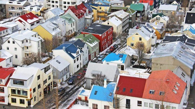 Reykjavik vue du ciel, capitale de l'Islande