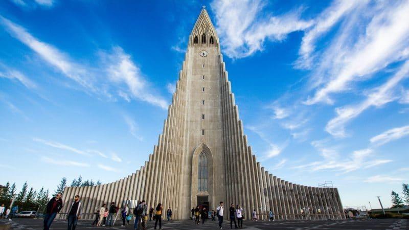 La cathédrale Hallgrímskirkja à Reykjavik