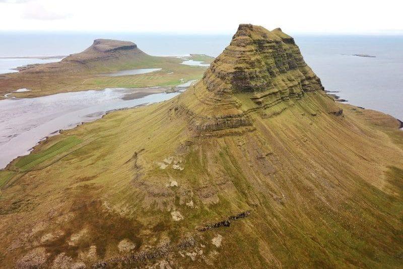 Snaefellsnes Islande vue du ciel