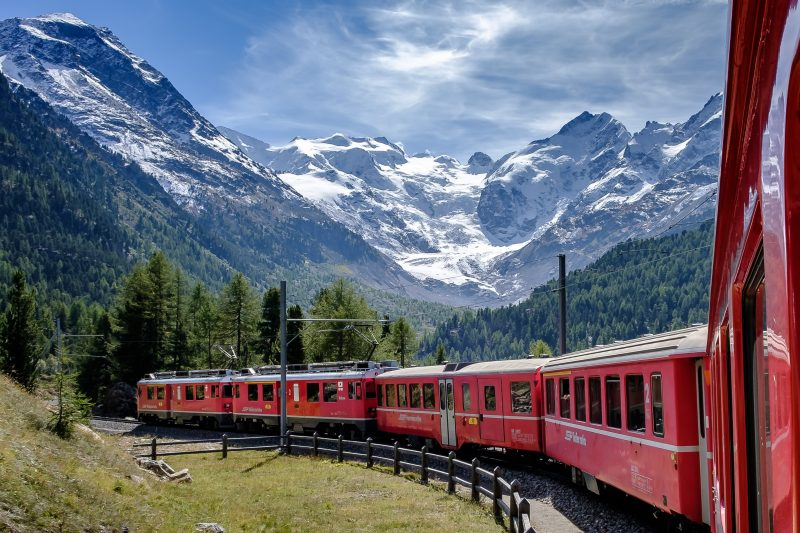 Bernina Express célèbre train de Suisse