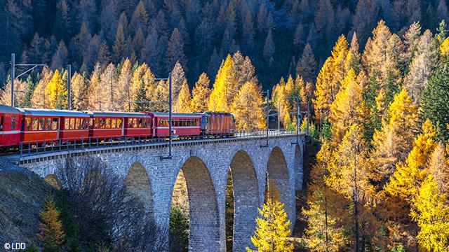 Voyager en Suisse en train