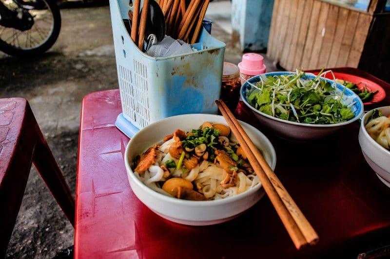 Plat vietnamien à Da Nang au Vietnam