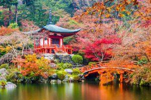 Temple Daigoji à Kyoto, au Japon