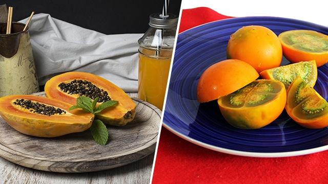 papaye et narangille